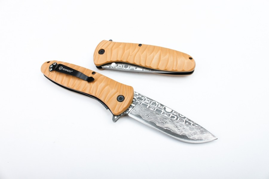 Knife Ganzo G622-DY-2, Brown